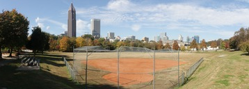The Atlanta skyline from Central Park